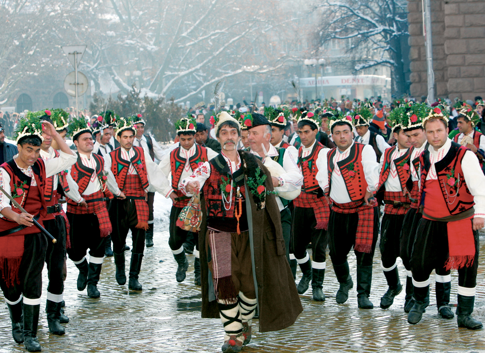 The original Bulgarian Christmas involves Koledari