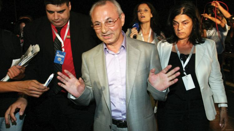 A rare appearance: Ahmed Dogan after the 2009 general election