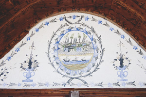 19th century Bulgarians doing the hadzh liked to remember the experience by decorating their houses with sea voyage frescoes