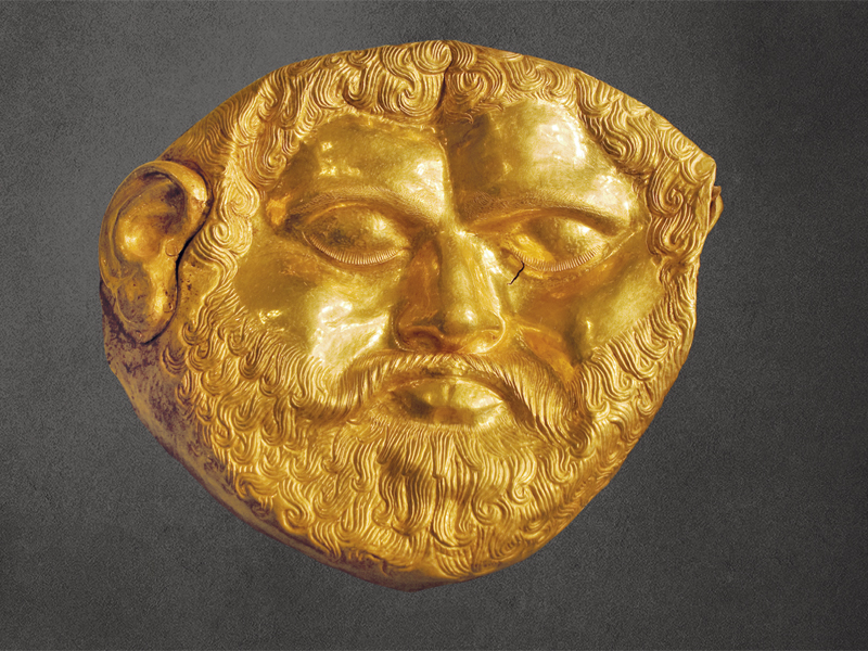 Thracian gold mask