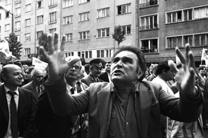 In the streets of Sofia-genuine anger at the atrocities of  Communism at the early 1990s