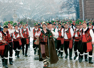 An original Bulgarian Christmas involves Koledari