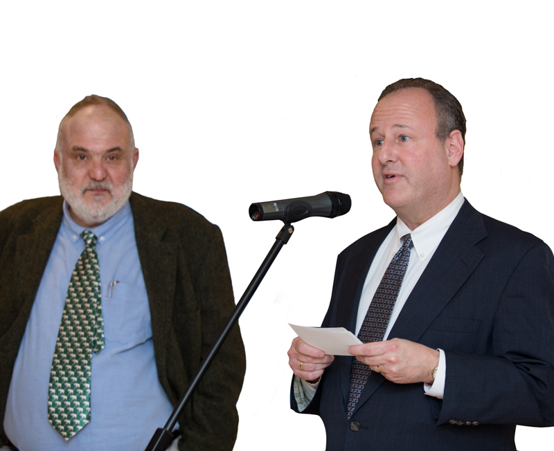 Author Anthony Georgieff and US Ambassador Eric Rubin