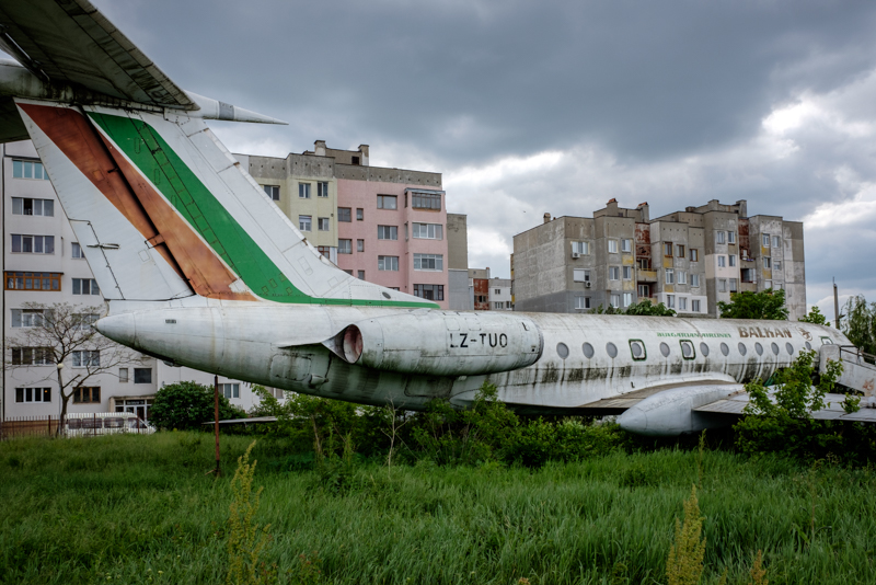 Grounded airplane in Silistra