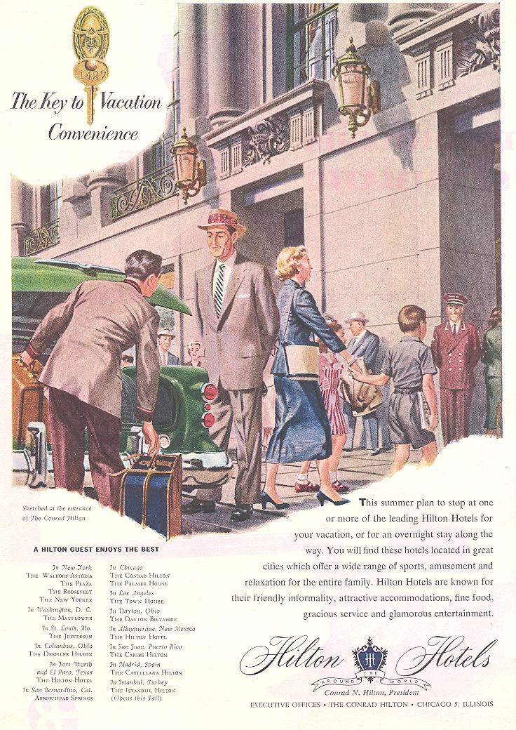 The Key to Vacation Convenience1954
