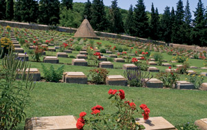 A British military cemetery near Doiran. In the 1918 battle  British and Greek troops fought against the Bulgarians. The Bulgarians  won but then retreated