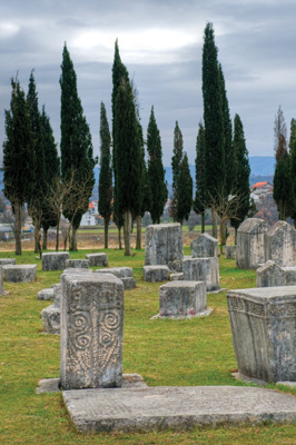The Radimlja cemetery is the biggest in Bosnia- Herzegovina