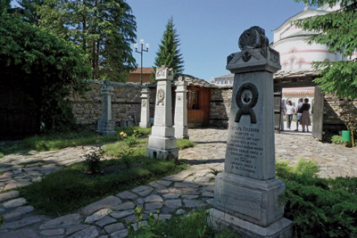 Some of the victims were buried in the St Nedelya churchyard