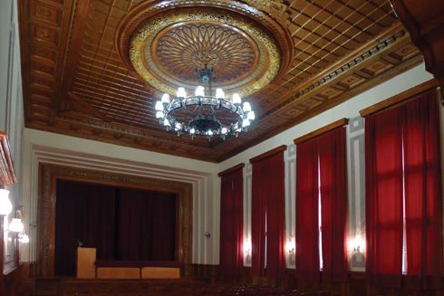 The meeting hall in the memorial building has been used for Communist Party congresses
