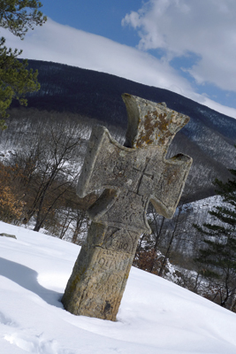 A stone cross near the Chiprovtsi Monastery marks the spot where animal sacrifices still take place on some Christian holidays