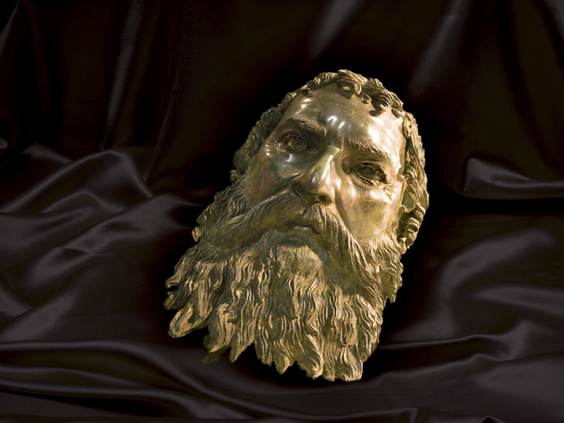 A bronze head of Thracian King Seuthes III, 4th Century BC