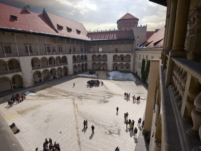 The royal palace of Wawel combines Italian Renaissance with northern architecture