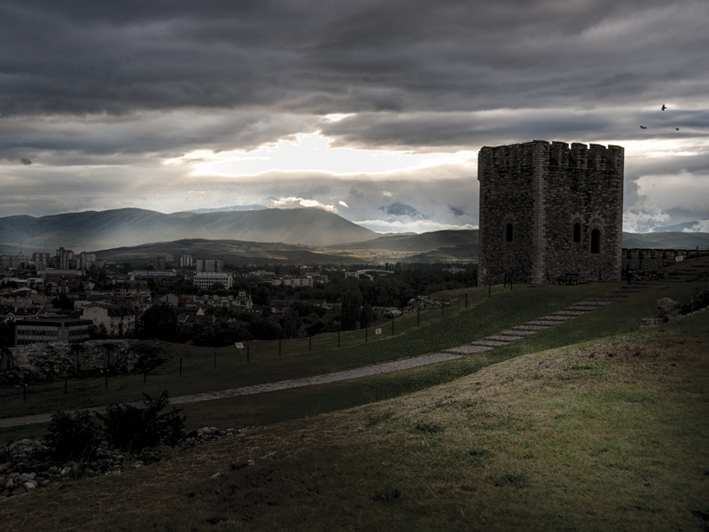 The medieval fortress of Skopje before restoration