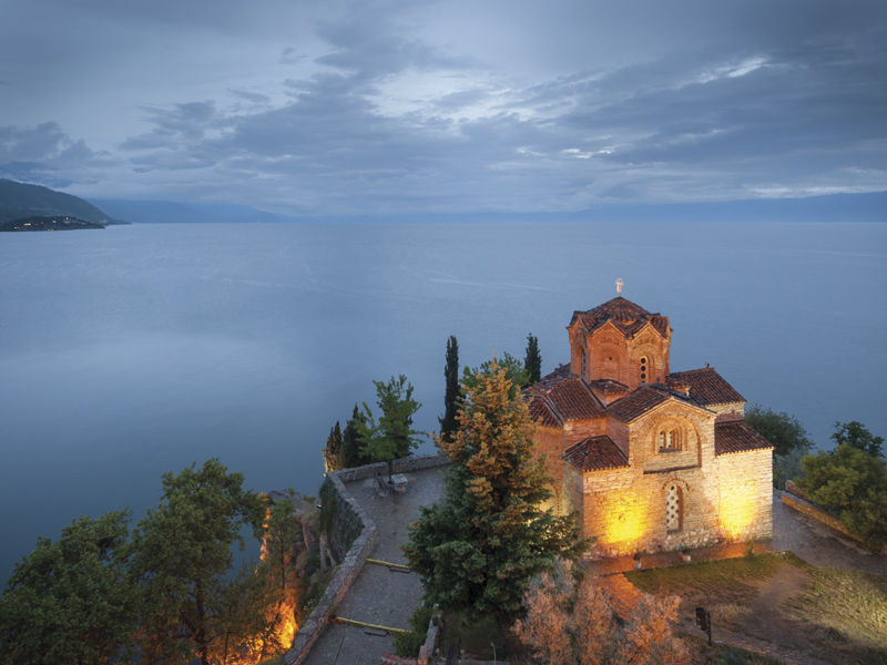 The St John Kaneo church overlooking Lake Ohrid was build in the 13th Century