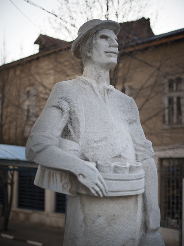 Monument of boza seller, Bulgaria