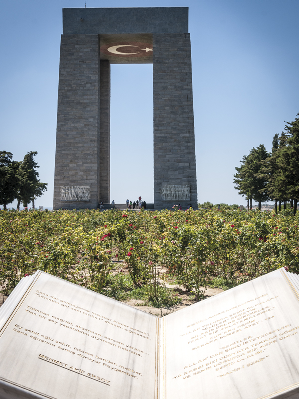 Turkish monument at Cape Helles, the main landing area during the Gallipoli Campaign