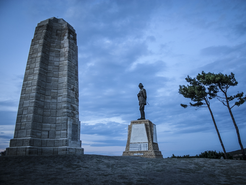 The New Zealand National Memorial and the Atatürk Memorial at Chunuk Bair