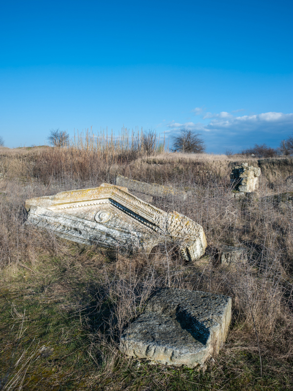 The ruins of Oescus, a Roman city on the Danube near modern village of Gigen