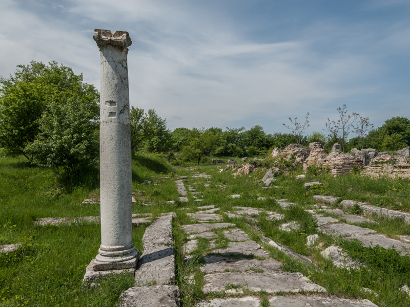 The ruins of Nicopolis ad Istrum, built by Emperor Trajan, are a dozen kilometres away from modern Veliko Tarnovo