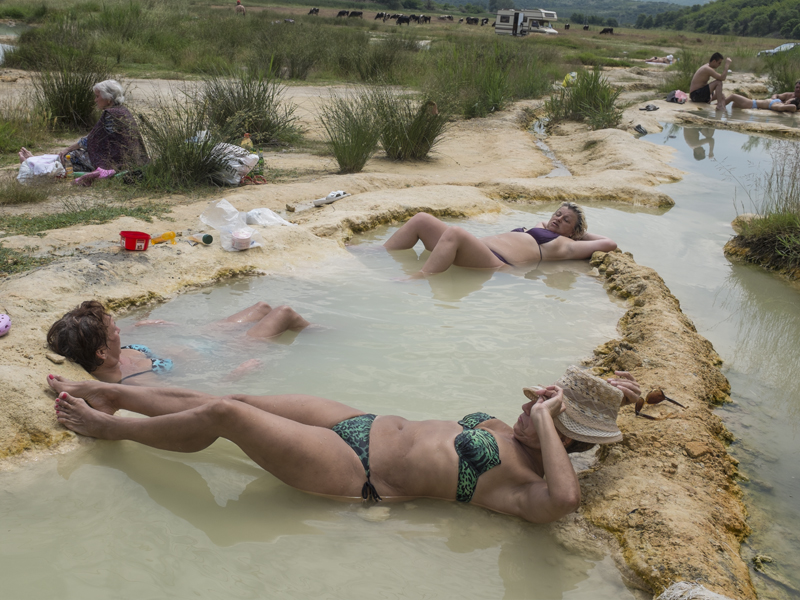 Locals believe in the healing powers of the mineral springs in Rupite