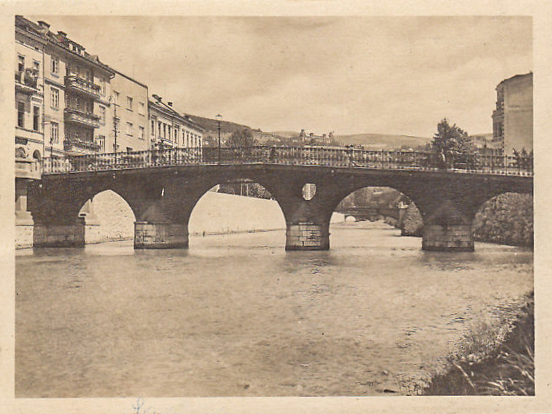 The Latin Bridge at the beginning of the 20th Century