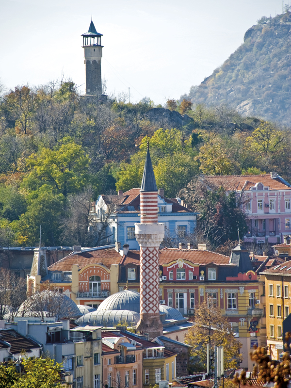 Plovdiv boasts the earliest clocktower in the Balkans, and the beautiful 15th Century Cuma Mosque