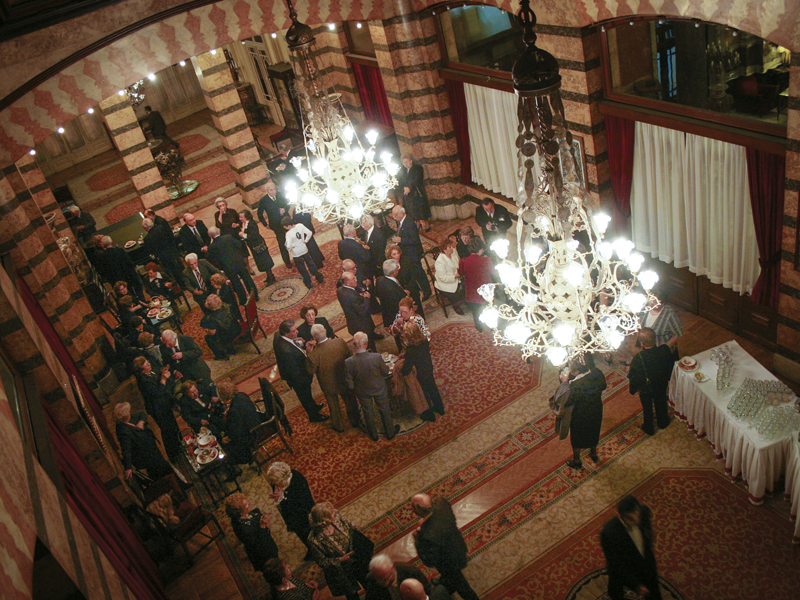 A party at Pera Palas Hotel. Built in 1892, it was at the final stop of Orient Express and had guests like Agatha Christie