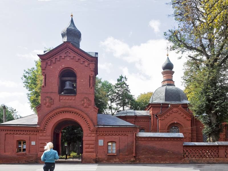 The chapel built to preserve Nikolay Pirogov's mummified remains
