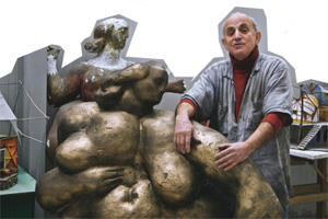 The sculptor in his studio