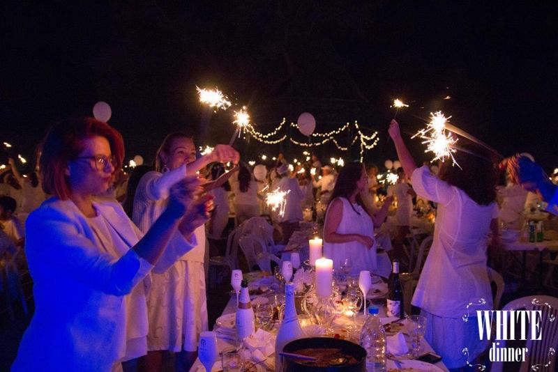 white dinner event sofia