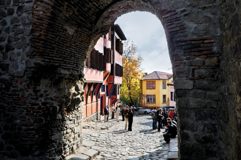 Hisar Kapiya is the most spectacular part of Plovdiv medieval fortress walls still preserved