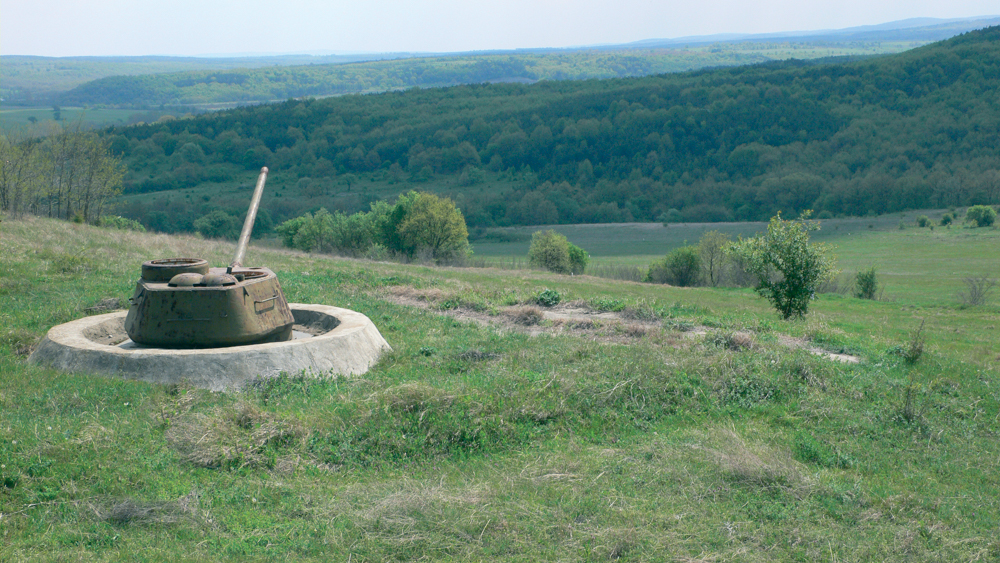 The antiquated Russian and German tanks adorn the southern Bulgarian countryside like the bunkers in Albania