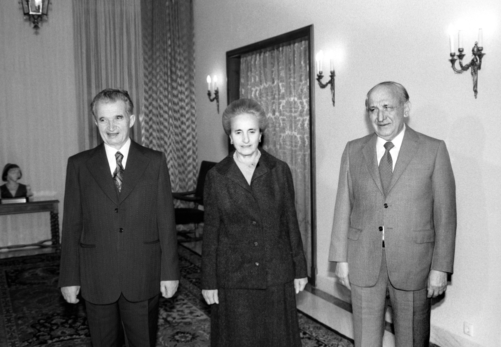 With Elena and Nicolae Ceausescu